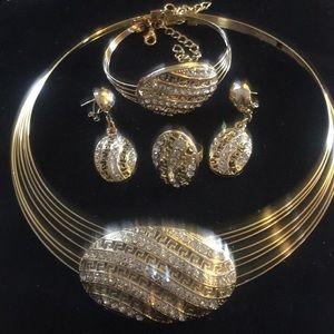 14karats  4pcs Rolled Gold Necklace Set
